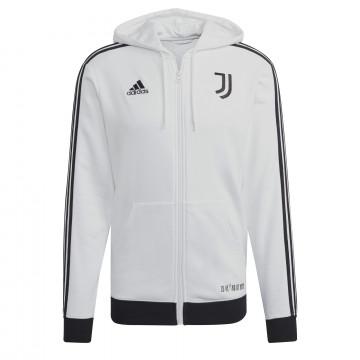 Veste survêtement à capuche Juventus FZ blanc noir 2021/22