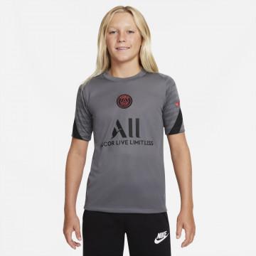 Maillot entraînement junior PSG Strike gris rose 2021/22