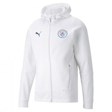 Veste survêtement Manchester City Casual blanc 2021/22