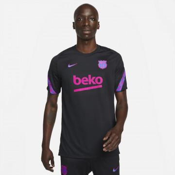 Maillot entraînement FC Barcelone noir rose 2021/22