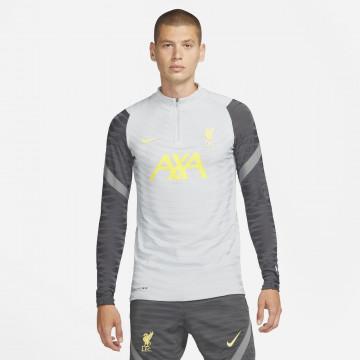 Sweat zippé Liverpool Strike Elite gris jaune 2021/22