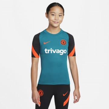 Maillot entraînement junior Chelsea bleu orange 2021/22