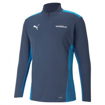 Sweat zippé OM bleu 2021/22