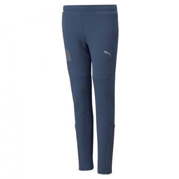 Pantalon survêtement junior OM Casual bleu 2021/22