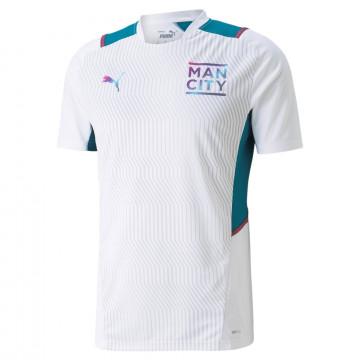 Maillot entraînement Manchester City blanc bleu 2021/22
