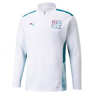 Sweat zippé Manchester City blanc 2021/22