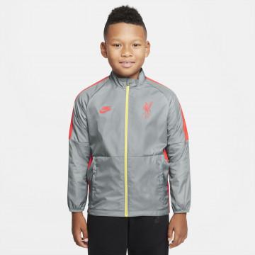 Veste imperméable junior Liverpool gris rouge 2021/22