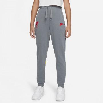 Pantalon survêtement junior Liverpool Fleece gris jaune 2021/22
