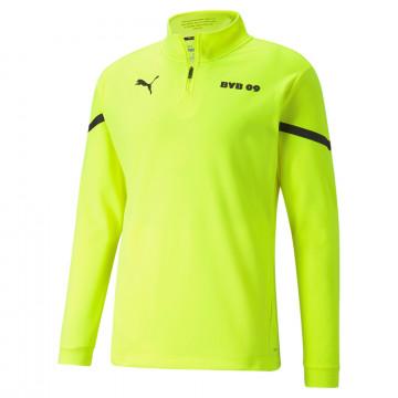 Sweat zippé avant match Dortmund jaune 2021/22