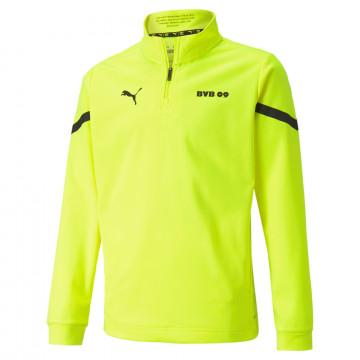 Sweat zippé avant match junior Dortmund jaune 2021/22