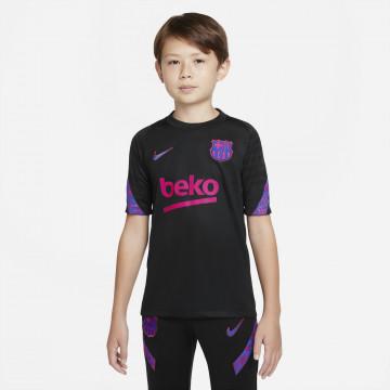 Maillot entraînement junior FC Barcelone noir rose 2021/22