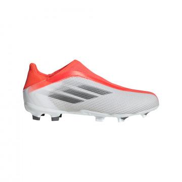 adidas X Speedflow.3 LaceLess junior FG gris rouge