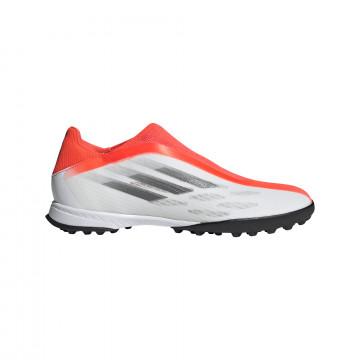 adidas X Speedflow.3 LaceLess Turf gris rouge