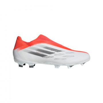 adidas X Speedflow.3 LaceLess FG gris rouge