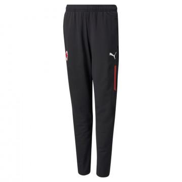 Pantalon entraînement junior AC Milan noir rouge 2021/22
