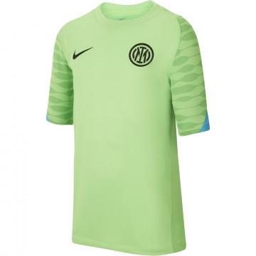 Maillot entraînement junior Inter Milan Strike vert 2021/22