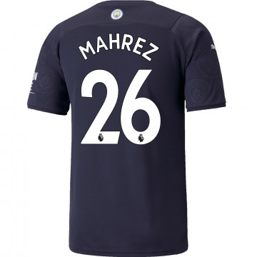 Maillot Mahrez Manchester City third 2021/22