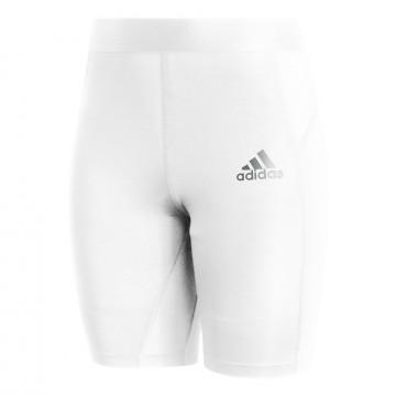 Short de compression adidas Tech Fit blanc
