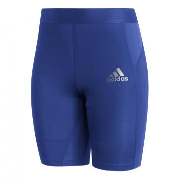 Short de compression adidas Tech Fit bleu