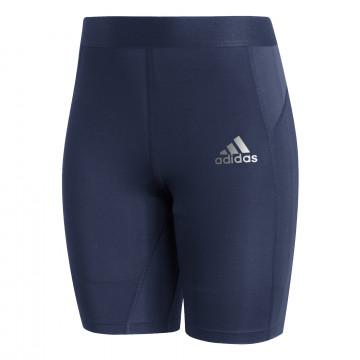 Short de compression adidas Tech Fit bleu foncé