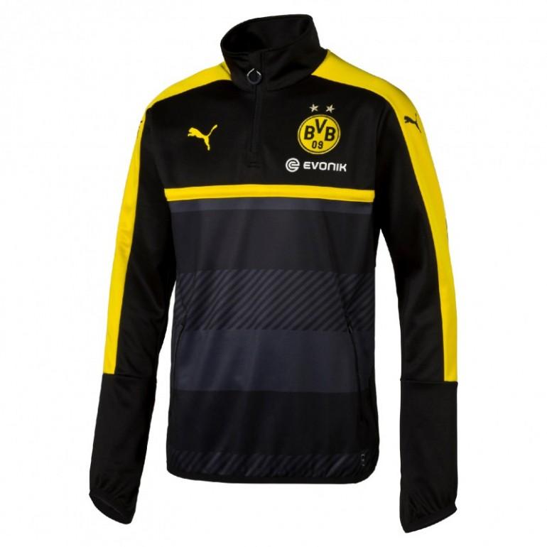 Sweat 1/4 zippé entraînement junior Dortmund 2016 - 2017