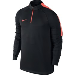 Sweat zippé technique Nike noir bandes orange