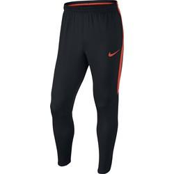 Pantalon Entraînement Football Nike Dry Squad noir bandes rouge