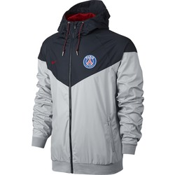 Men's Paris Saint-Germain Authentic Windrunner Jacket BLACK OR GREY 2016 - 2017