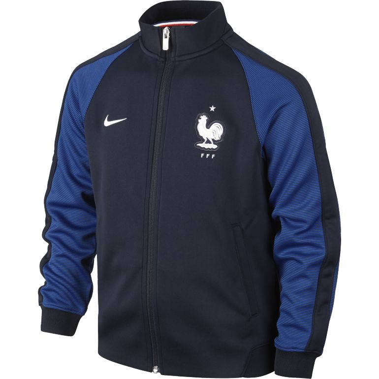 Veste Survêtement junior Equipe de France FFF N98 bleue 2016